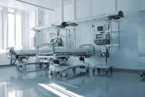Empty Beds Inside Patient Ward Faciltiy