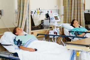 Patients In Recovery Inside Patient Ward Faciltiy