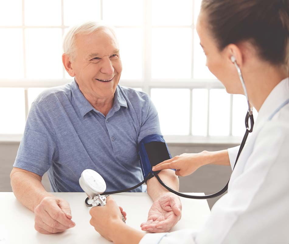 General Medicine Outreach Vehicle Blood Pressure Test