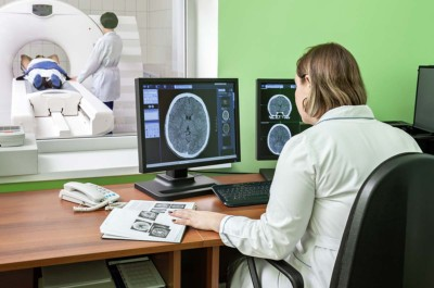 Magnetic Resonance Imaging Examination Inside Mobile Mri Facility