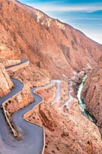 Remote Road In Morocco